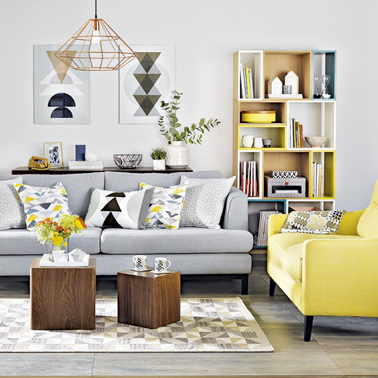 yellow color decor
