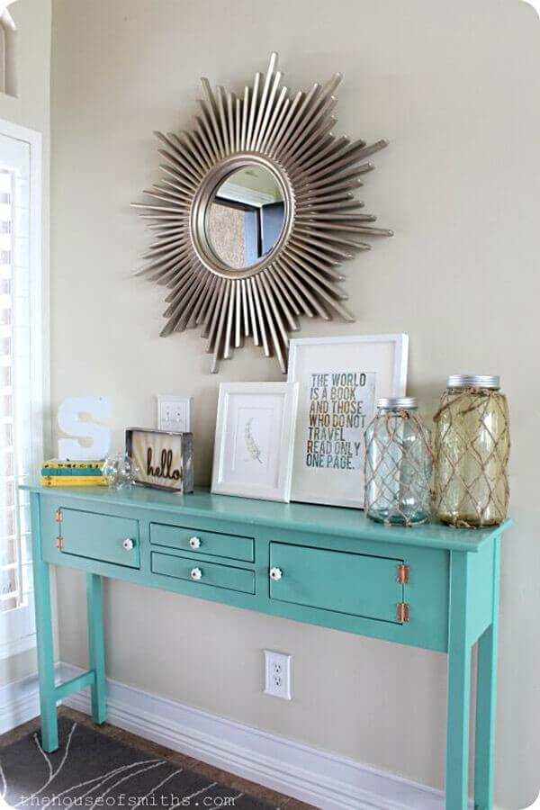 Robin's Egg Blue Entry Table