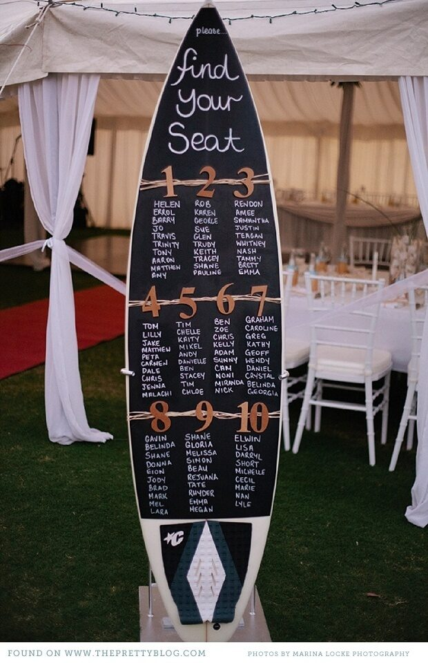 destination wedding seating chart ideas