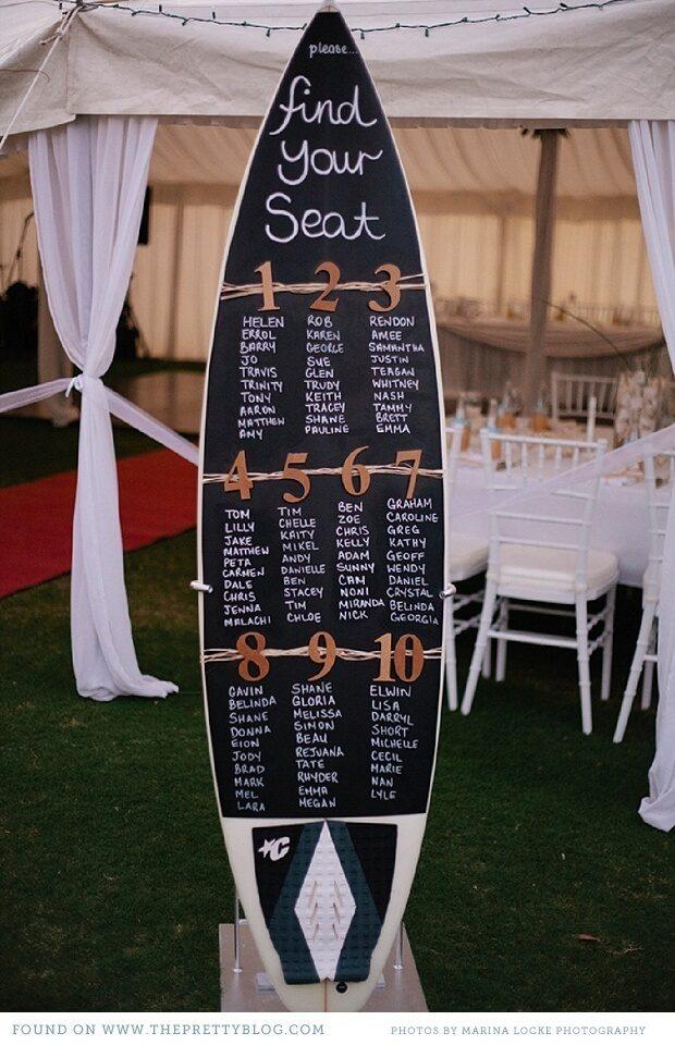 destination wedding seating chart ideas