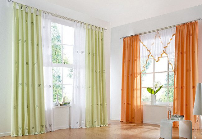 sheer bedroom curtains