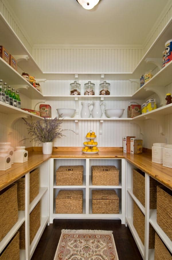 walk in pantry shelving