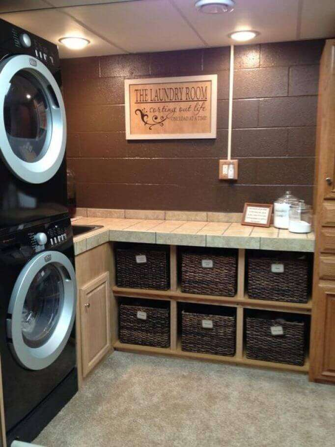 basement laundry room remodel