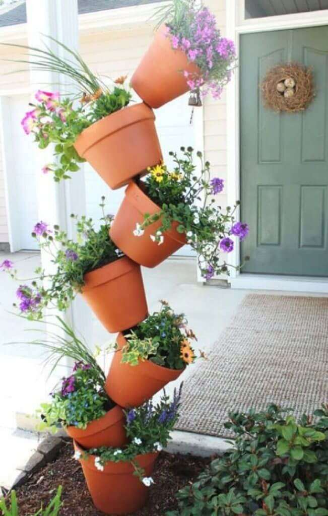 front door flower pots
