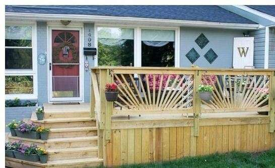 lattice deck railing ideas