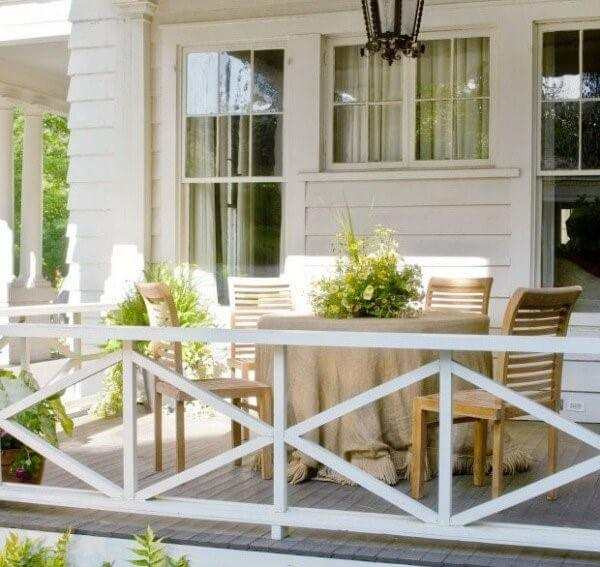 rustic deck railing ideas