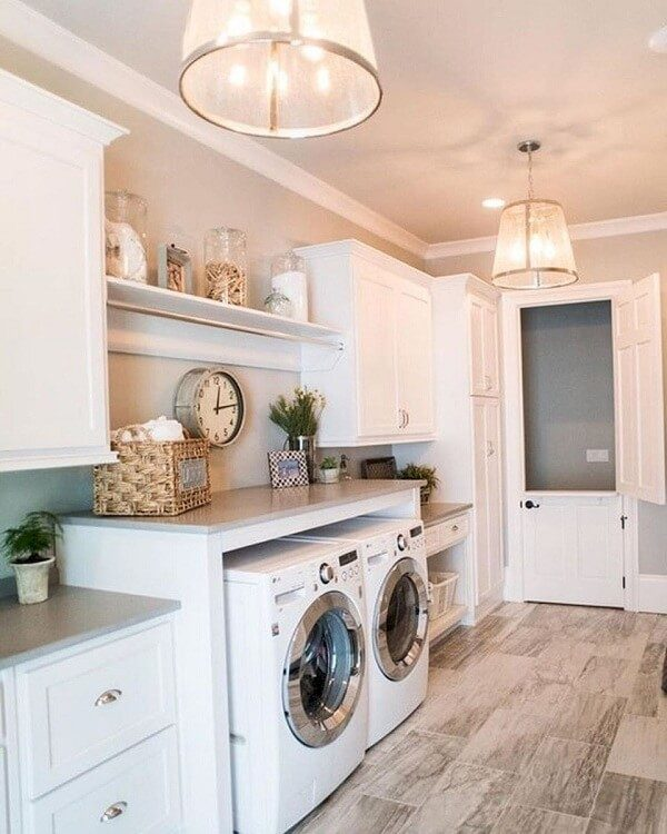 industrial farmhouse laundry room