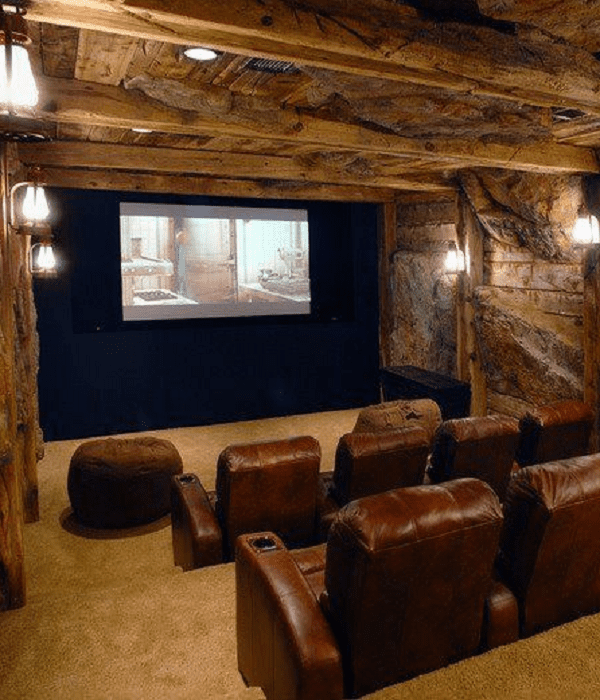 Home Design Basement Ideas: 25 Best Basement Home Theater Decor Ideas (Entertain Family