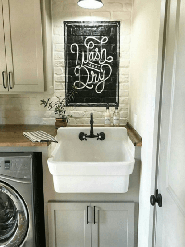 laundry room decor vintage