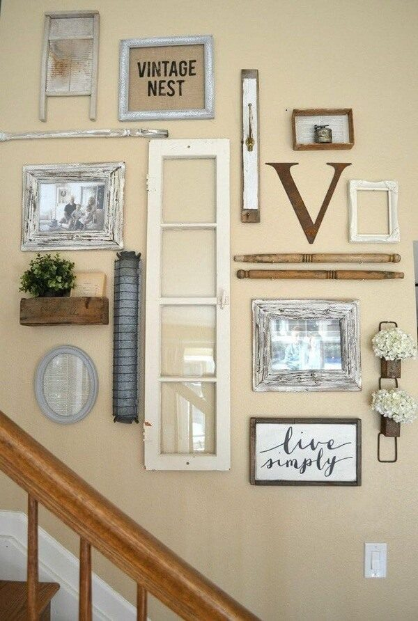 farmhouse living room wall decor