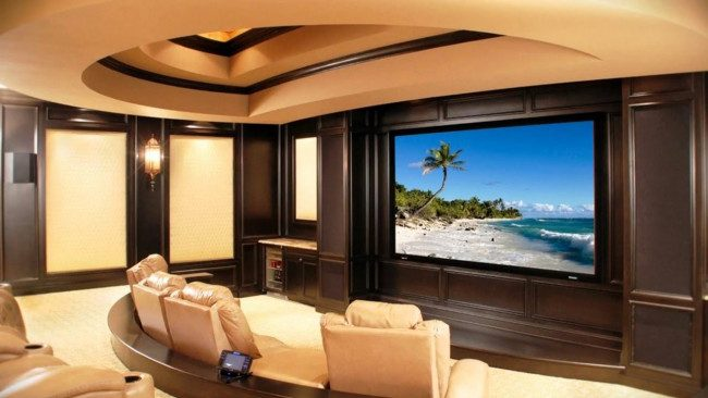 media room basement ideas