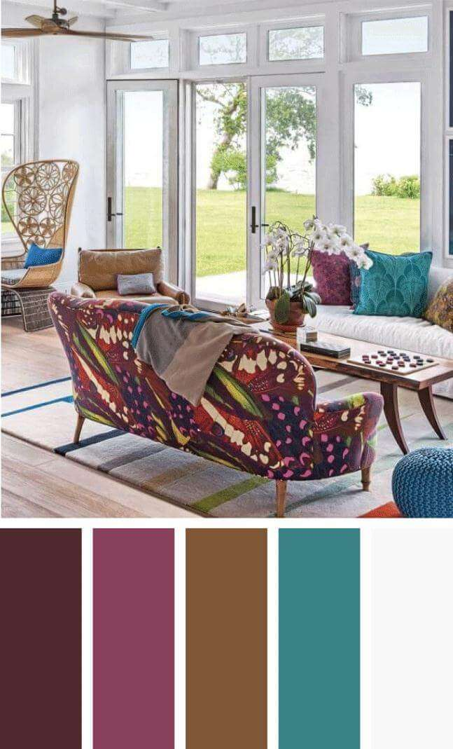 warm living room color schemes