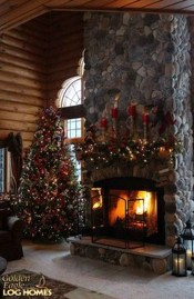 Inspiring Rustic Christmas Fireplace Ideas To Makes Your Home Warmer 11
