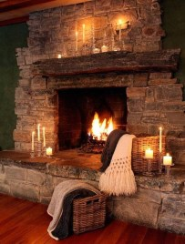 Inspiring Rustic Christmas Fireplace Ideas To Makes Your Home Warmer 12