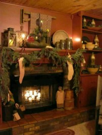 Inspiring Rustic Christmas Fireplace Ideas To Makes Your Home Warmer 24