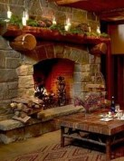 Inspiring Rustic Christmas Fireplace Ideas To Makes Your Home Warmer 47