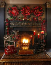 Inspiring Rustic Christmas Fireplace Ideas To Makes Your Home Warmer 73