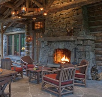 Inspiring Rustic Christmas Fireplace Ideas To Makes Your Home Warmer 83