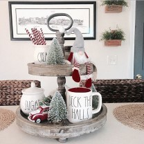 Adorable Rustic Christmas Kitchen Decoration Ideas 37