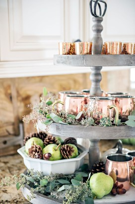 Adorable Rustic Christmas Kitchen Decoration Ideas 42