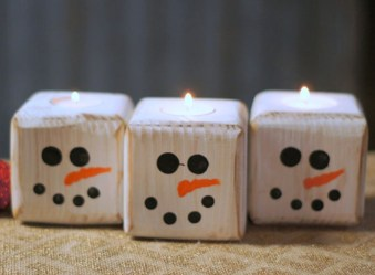 Creative DIY Christmas Candle Holders Ideas To Makes Your Room More Cheerful 05