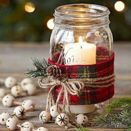 Creative DIY Christmas Candle Holders Ideas To Makes Your Room More Cheerful 22
