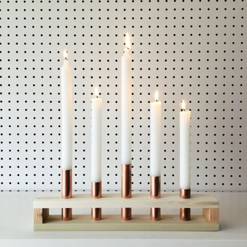 Creative DIY Christmas Candle Holders Ideas To Makes Your Room More Cheerful 35