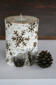 Creative DIY Christmas Candle Holders Ideas To Makes Your Room More Cheerful 39