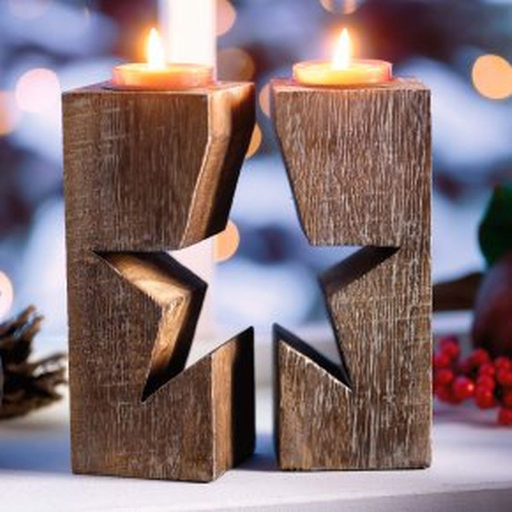 Creative DIY Christmas Candle Holders Ideas To Makes Your Room More Cheerful 70