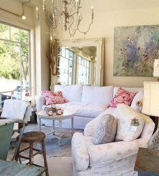 Creative DIY Shabby Chic Decoration Ideas For Your Living Room 62