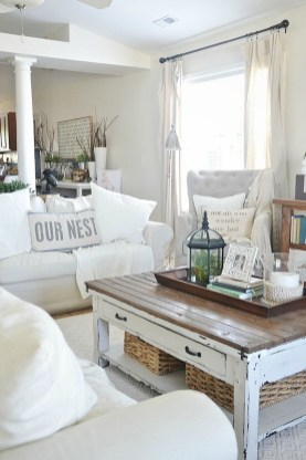 Creative DIY Shabby Chic Decoration Ideas For Your Living Room 63
