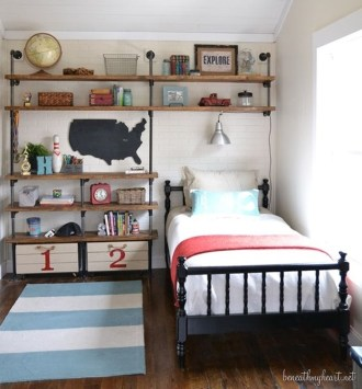 Cute Boys Bedroom Design Ideas For Small Space 13