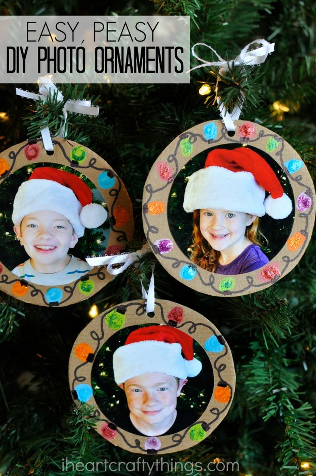 Easy And Creative DIY Photo Christmas Ornaments Ideas 18