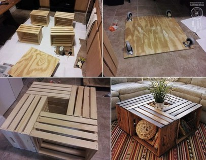 Incredible Industrial Farmhouse Coffee Table Ideas 20