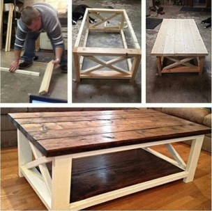 Incredible Industrial Farmhouse Coffee Table Ideas 37