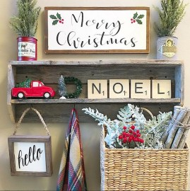 Incredible Rustic Farmhouse Christmas Decoration Ideas 41