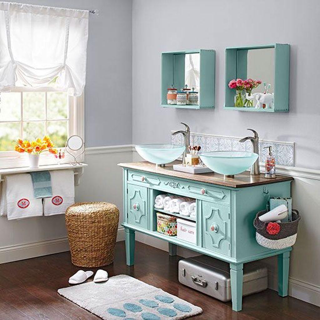 Inspiring Rustic Bathroom Vanity Remodel Ideas 14