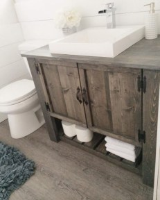 Inspiring Rustic Bathroom Vanity Remodel Ideas 41