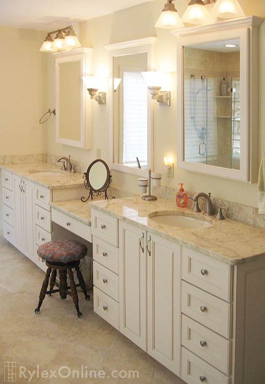 Inspiring Rustic Bathroom Vanity Remodel Ideas 43
