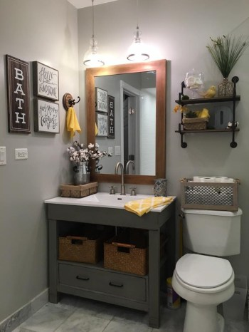 Inspiring Rustic Bathroom Vanity Remodel Ideas 53