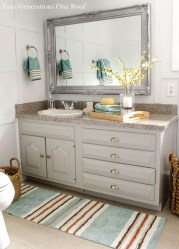 Inspiring Rustic Bathroom Vanity Remodel Ideas 56