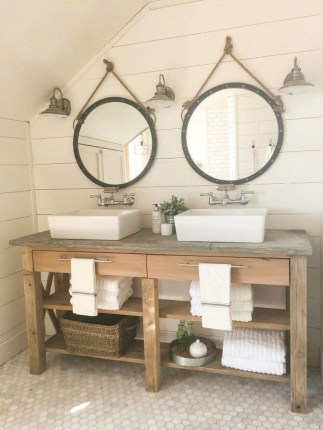 Inspiring Rustic Bathroom Vanity Remodel Ideas 60