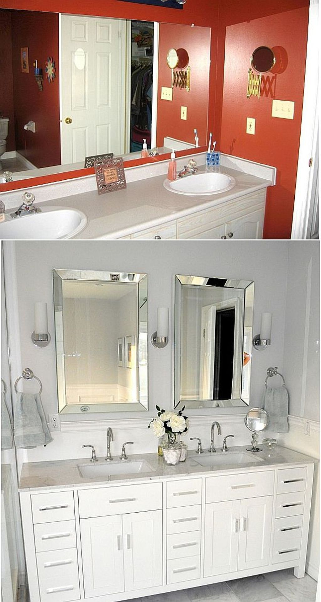 Inspiring Rustic Bathroom Vanity Remodel Ideas 62