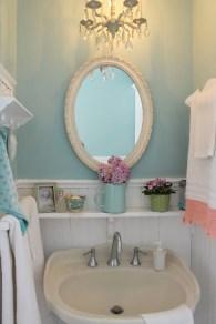 Romantic And Elegant Bathroom Design Ideas With Chandeliers 05