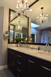Romantic And Elegant Bathroom Design Ideas With Chandeliers 07
