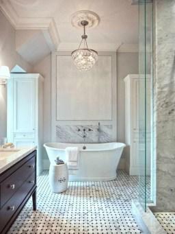 Romantic And Elegant Bathroom Design Ideas With Chandeliers 22