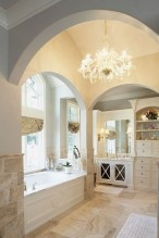 Romantic And Elegant Bathroom Design Ideas With Chandeliers 28