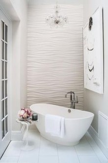 Romantic And Elegant Bathroom Design Ideas With Chandeliers 32