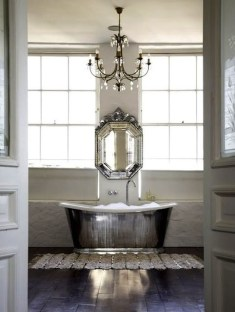 Romantic And Elegant Bathroom Design Ideas With Chandeliers 48