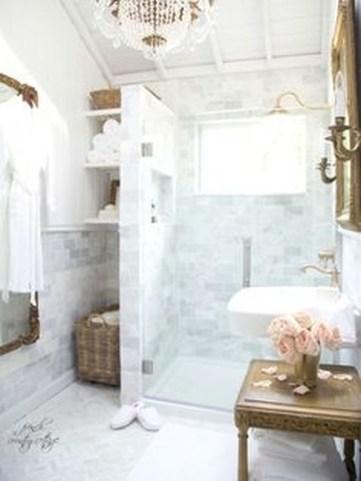 Romantic And Elegant Bathroom Design Ideas With Chandeliers 50